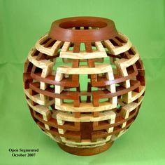 Something different with open segmented vases.