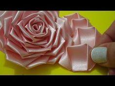 Flor de tecido - TUTORIAL da ROSA LINDAAA...todos os detalhes, montagem completa!!!Passo a Passo!!^^ - YouTube