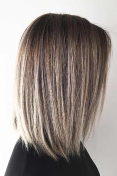 37 Möglichkeiten, schulterlanges Haar zu schaukeln - New Ideas - Balayage Hair - hair Straight Bob Haircut, Haircut For Thick Hair, Haircut And Color, Haircut Short, Swing Bob Haircut, Free Haircut, Haircut Styles, Classic Bob Haircut, Medium Bob Hairstyles