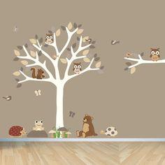 Forest Animal Decal, woodland animals, Bear, Turtle, Hedgehog Wall Decals, Squirrel, Frog, Nursery Wall Decal, Friendship Falls wall decal
