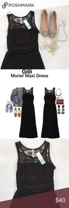 """NWT Gilli Muriel Maxi dress Beautiful NWT Gillie Muriel lace maxi dress from Stitch Fix in perfect condition. Measures 54"""" in length and is super soft and stretchy. Make an offer or bundle and save! Gilli Dresses Maxi"""