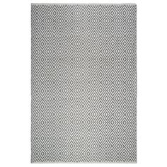 Fab Habitat, Indoor/Outdoor Floor Mat/Rug - Handwoven, Made from Recycled Plastic Bottles - Veria/Grey & White - 2' x 3' (2' x 3'), Size 2' x 3' (Polyester)