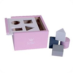 Blue Wooden Block Box Bam Bam Gifts Playtime, For Kids, Products to @ Internet Gift Store