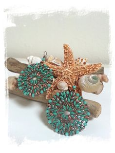 Superduo crystal and seed beads earrings pattern por 75marghe75, $7.00