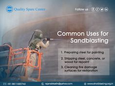 Quality Spare Centre- sand blasting machine service provider in India is upfront to provide effective solution to all the cleaning needs of the country. Sand Blasting Machine, Rubber Industry, Ocean Habitat, Calcium Deposits, Machine Service, Hard Water, Surface Finish, Concrete, Restoration