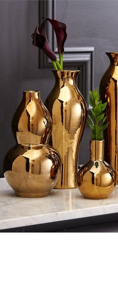 Gold accessories on pinterest gold home decor chest dresser and gold sofa Home decor gold