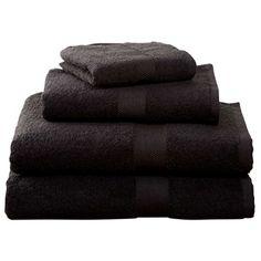 Black Four-Piece Cotton Towel Set  $19.95