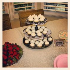 Bridal Shower Cupcakes by The Crystal Cupcakery. Photo by crystaldesignstudio Bridal Shower Cupcakes, Cookies, Crystals, Desserts, Food, Crack Crackers, Tailgate Desserts, Deserts, Biscuits