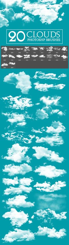 20 Cloud Brushes - Artistic Brushes
