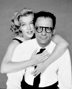 """""""Marilyn and Arthur Miller by Richard Avedon in May 1957. """""""