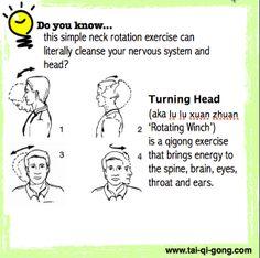 """Résultat de recherche d'images pour """"neck rotation exercise benefits chikung images"""""""