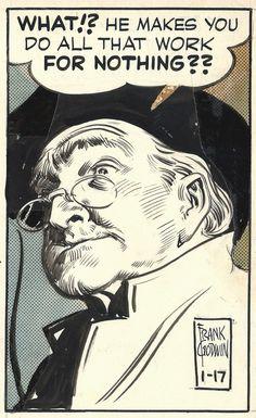 Original Comic Strip, Animation and Illustration Art: De nouvelles planches du comic strip Rusty Riley, par Frank Godwin