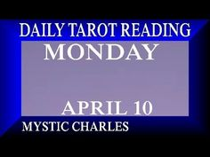 Daily Tarot Reading Mon April 10 Family Friendly. Show your love, & support for what I do.