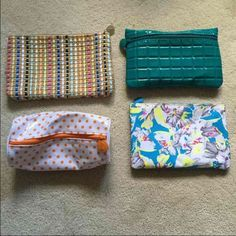 NEW!! Bundle of Small Makeup Bags Bundle of small makeup bags. Perfect condition! Bags Cosmetic Bags & Cases