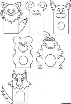 Finger Puppet Patterns, Felt Doll Patterns, Felt Animal Patterns, Quiet Book Patterns, Felt Puppets, Puppets For Kids, Felt Finger Puppets, Diy Quiet Books, Felt Books
