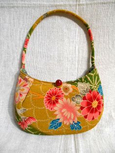 Japanese Kimono Fabric Clutch Bag OBI HANDBAG Vintage Traditional Japan