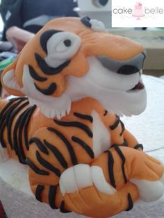 The Jungle Book - Shere Khan made from Fondant.  I used him on my Jungle Book Cake for the Cake & Bake Show London 2015