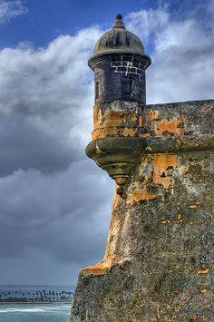 La Garita, a sentry box at El Morro castle, has come to symbolize Puerto Rico and El Viejo San Juan