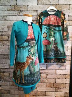 DIY pakket paneel herfst hert en konijn voor 2 jurken!