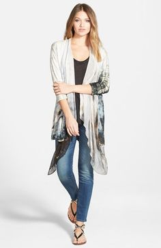 Gypsy 05 Draped Silk Lapel Cardigan available at #Nordstrom