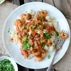 Get your cajun on with this easy crawfish étouffée. Simple to make and totally addictive. Don't say you weren't warned.