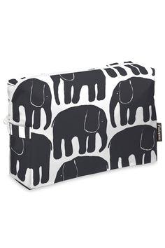 Elefantti-toilettilaukku, musta Diaper Bag, Canvas, Bags, Fun Stuff, Tela, Handbags, Fun Things, Diaper Bags, Mothers Bag