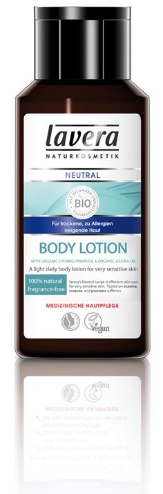 lavera Neutral Body Lotion  - 200ml - A light daily, body moisturiser that nourishes and soothes dry and sensitive skin to help prevent skin irritation.