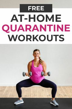 At-Home Quarantine Workouts - Fitness Plans - Ideas of Fitness Plans - Stuck at home with no access to the gym? Try out one of these FREE quarantine workouts! Many are bodyweight only or dumbbell only! 30 Day Fitness, Fitness Workout For Women, Workout Plan For Women, At Home Workout Plan, At Home Workouts, Fast Workouts, Workout Plans, Fitness Workouts, Health Fitness