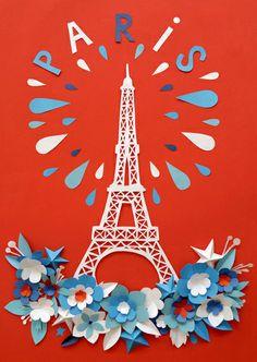 Carte postale: paris - by Mathilde Nivet