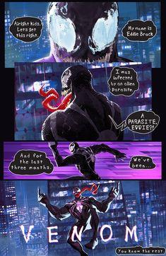 Spiderman into the spider-verse Venom parody Ms Marvel, Marvel Avengers, Marvel Comics, Comics Spiderman, Venom Comics, Marvel Venom, Marvel Jokes, Marvel Funny, Marvel Heroes