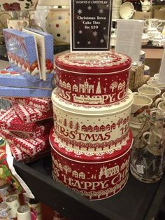 Emma Bridgewater Christmas Town Cake Tins 2013, tins for Christmas cookies!
