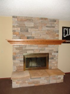 Indoor fireplace double sided natural stone natural for New construction wood burning fireplace