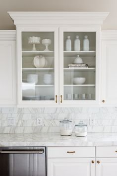 Calacatta marble counters and backsplash || Studio McGee
