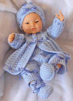 "Boy's pdf Knitting Pattern 4 Pce Set in all 3 sizes - Prem Baby 16/18"" Doll, Newborn Baby 18/20"" Doll, 0-3 Month Baby 20/22"" Doll - STEVE"