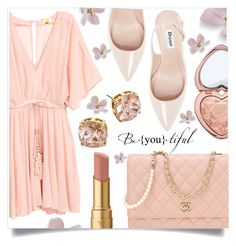 """""""Untitled #1338"""" by kaymeans ❤ liked on Polyvore featuring Dune, Chanel, Tory Burch and Too Faced Cosmetics"""