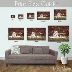 Print size guide for main feature wall