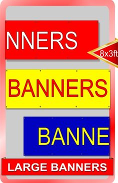 Large-business banners for outdoor