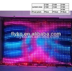 Commercial Lighting Free Shipping Stage Lighting Effect Pc Controller Led Soft Curtain Display Led Cortinas Led Video Curtain In Short Supply