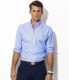 Polo Ralph Lauren Custom-Fit Gingham-Check Poplin Sportshirt  $89.50