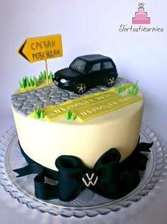 Model Car Polo Yellow Cake VW GTi Topper, Mk 5 Birthday
