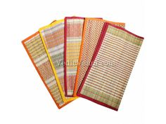 Kusha Grass Aasan for seat at pooja and homam, Vedicvaani.com. Free Shipping Yoga Mats, we have 1000's of verity of natural darba grass Mats supplier in UK. The sanctity of dharba or kusha,is as old as the Indian gods. Puranas tell how Vishnu assumed the form of the Cosmic Tortoise (Skt.kurma) whose shell served to support Mandara,the mountain that served as a dasher in the churning of the Sea of Milk.
