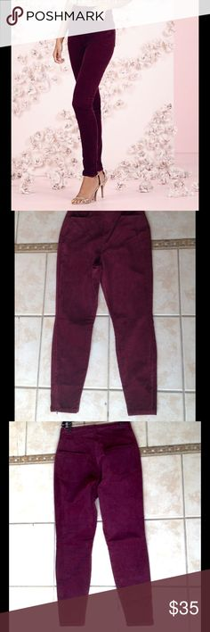NWT LC Lauren Conrad Runway Velvet Pants NWT LC Lauren Conrad Runway Velvet Cigarette Pants. Velvet, hi-waist, two pockets in the front, two pockets in the back, zippers on the ankles. 98% Cotton, 2% Spandex. Maroon color. LC Lauren Conrad Pants Straight Leg
