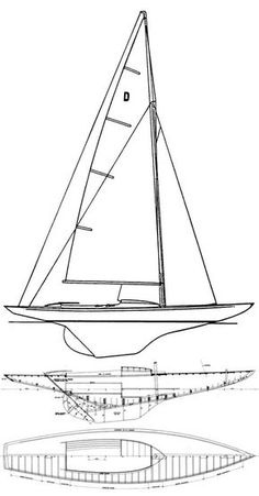 Dragon Class (International) drawing on sailboatdata.com