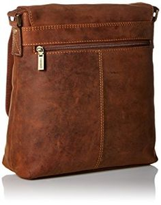 8e29ac00cb74 Visconti Hunter Oiled Distressed Leather Messenger Shoulder Bag, Tan, One  Size