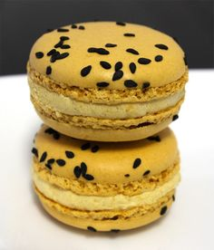 Passionfruit and honeycomb macaron by Adriano Zumbo - nice combo
