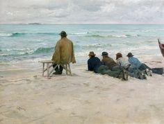 "arsvitaest: ""On Watch"" Author: Eilif Peterssen (Norwegian, 1852-1928)Date: 1889Medium: Oil on canvas"