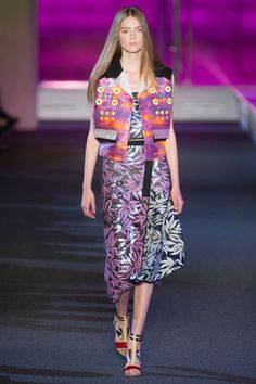 Pin for Later: Peter Pilotto Introduces Electric Ladies For Spring 2015 Peter Pilotto Spring 2015
