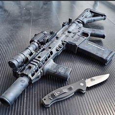 Assualt Rifle & Knife