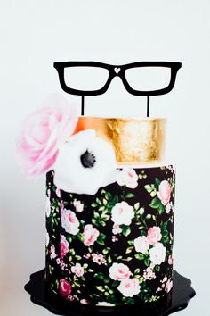 Hipster Glasses, Wedding Cake Topper, Laser Cut, Acrylic, The Roc Shop, Cake by Hey There, Cupcake!