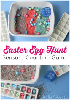 The Easter Egg Hunt Sensory Counting Game is a fun way for preschoolers to…